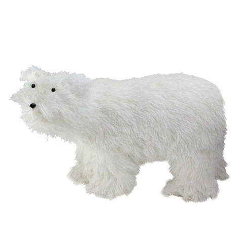 "Northlight 17"" White Standing Polar Bear Christmas Figure Decoration - image 1 of 2"