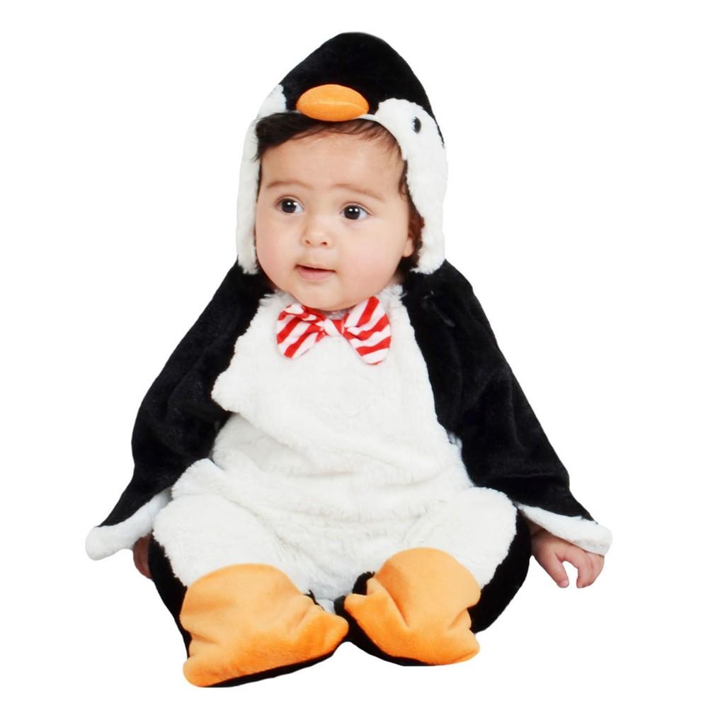 Baby Plush Penguin Jumpsuit Costume 0-6M - Wondershop, Infant Unisex, Black