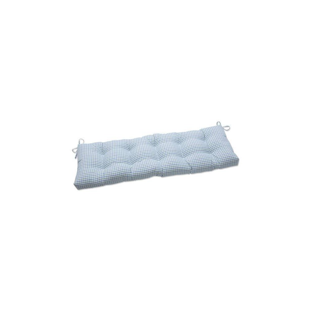 60 34 X 18 34 Outdoor Indoor Tufted Bench Swing Cushion Nash Opal Blue Pillow Perfect