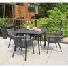 5pc Nette Dining Table Set with Eiland Table Carbon/Pewter/Ninja - Oxford Garden - image 2 of 2