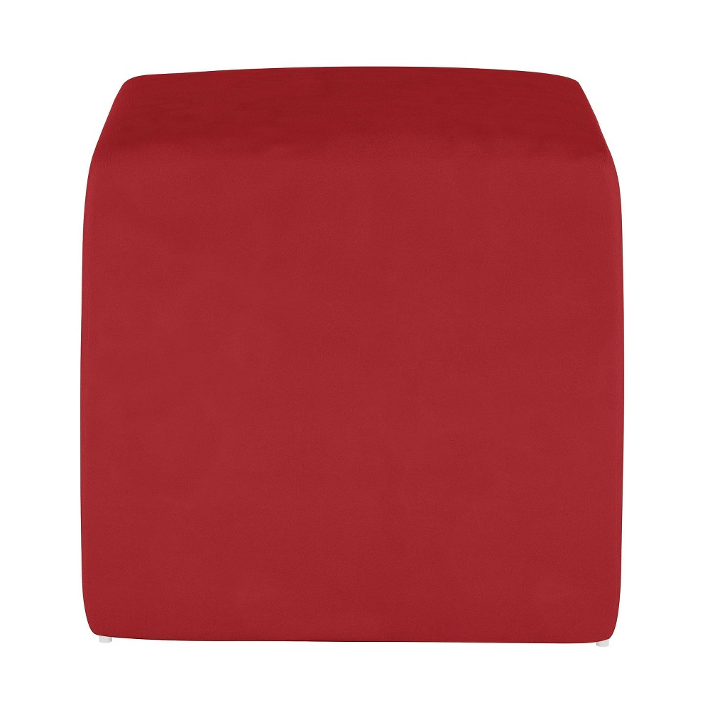 Image of Kids Cube Ottoman Premier Red - Pillowfort