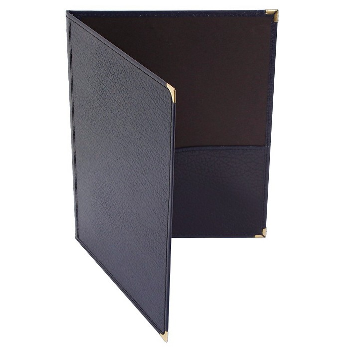 Deer River Choral Leatherette Folio With Bottom Pockets Blue 9x12 - image 1 of 1