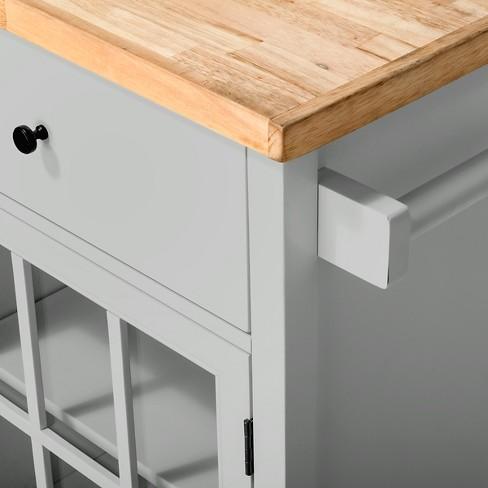 Windham Wood Top Kitchen Island Gray Threshold