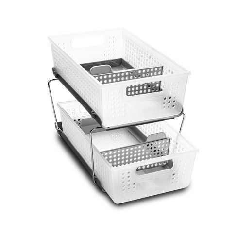 Two-Tier Organizer with Dividers Frost/Gray - Madesmart - image 1 of 4
