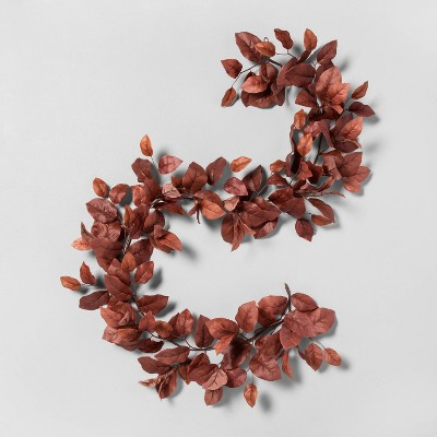 6' Faux Rust Aspen Leaves Garland - Hearth & Hand™ with Magnolia