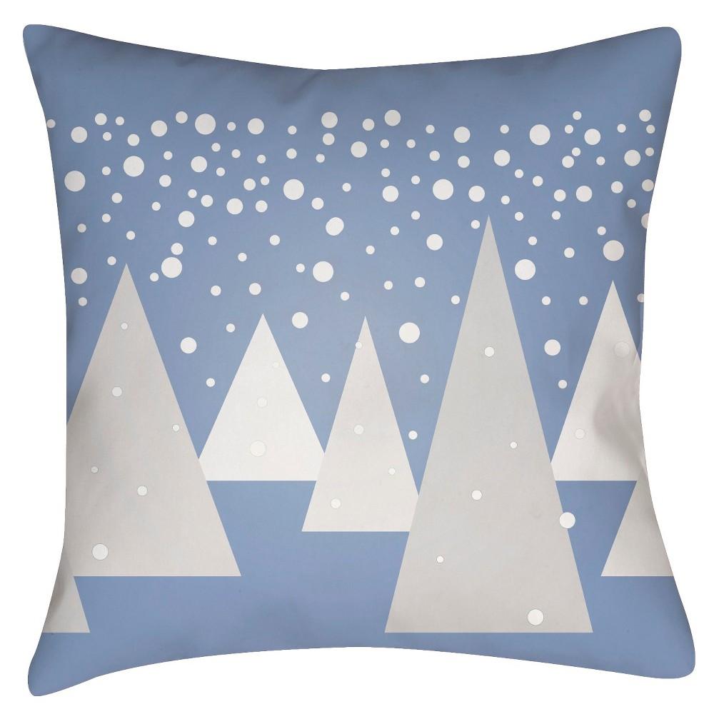 Gray Winter Wonderland Throw Pillow 18