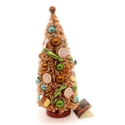 Halloween Sweet Treats Bottle Brush Tree Candy Corn  -  Decorative Figurines