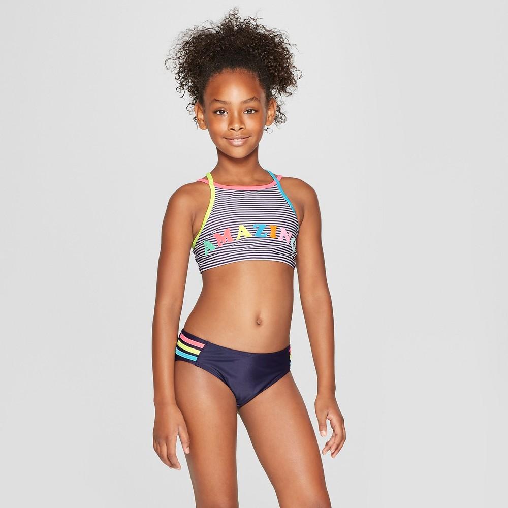 Girls' 'Amazing' Bikini Set - Cat & Jack Navy L, Blue