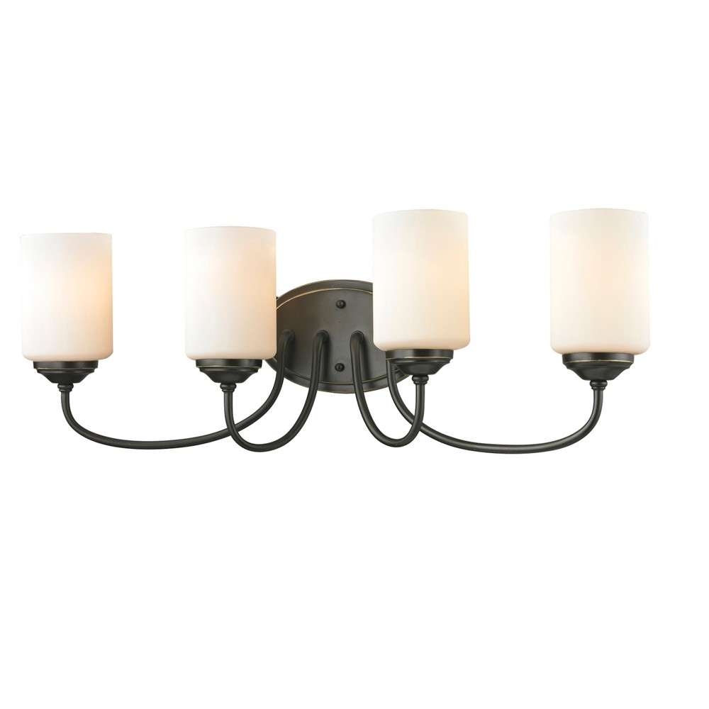 Vanity Wall Lights with Matte Opal Glass (Set of 4) - Z-Lite