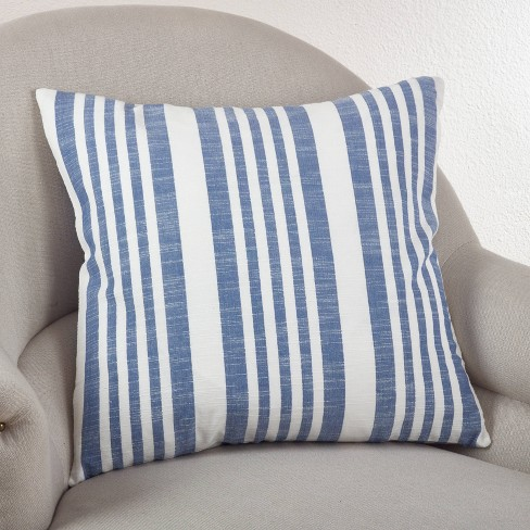 "20""x20"" Oversize Down Filled Striped Design Square Throw Pillow - Saro Lifestyle - image 1 of 3"