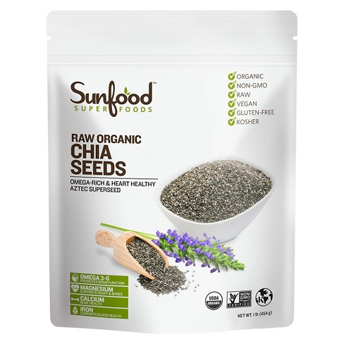 Sunfood Superfoods Raw Organic Chia Seeds - 16 oz - image 1 of 1