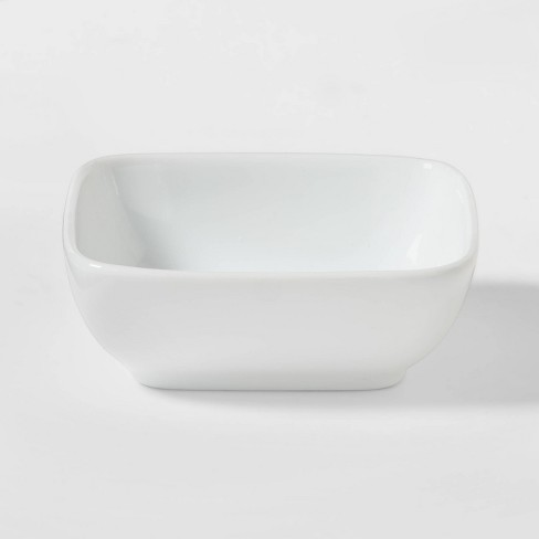 4oz Porcelain Square Dip Bowl White - Threshold™ - image 1 of 3