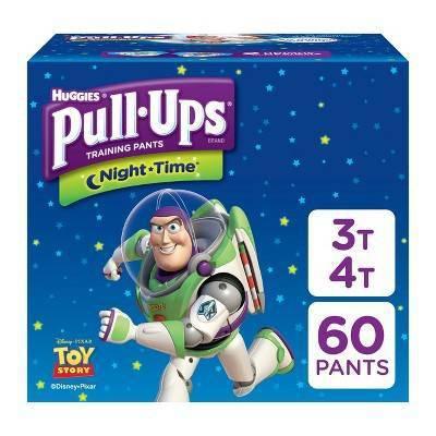 Huggies Pull-Ups Boys' NightTime Training Pants Giga Pack - 3T-4T (60ct)