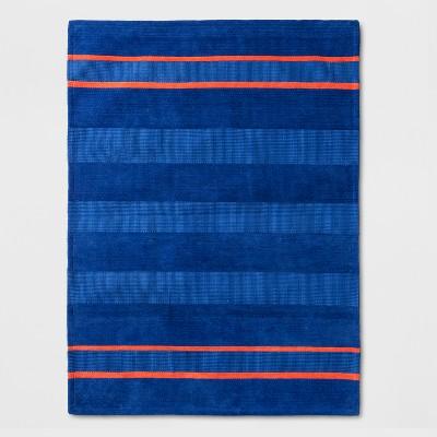 Striped Rug Blue/Orange - Pillowfort™