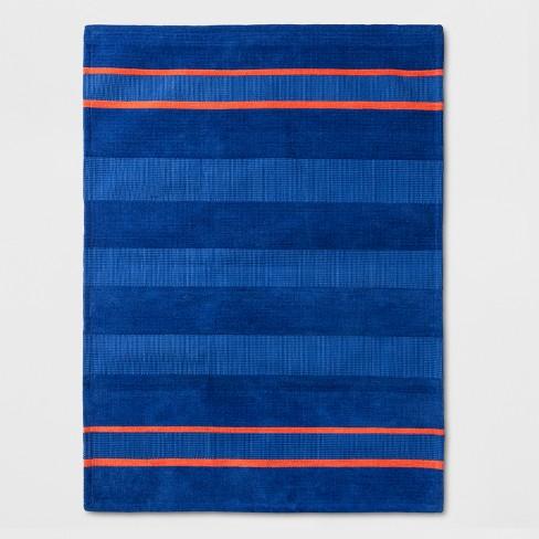Striped Rug Blue Orange Pillowfort Target