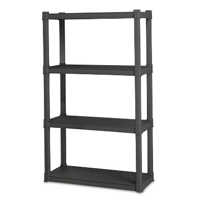 Sterilite 4-Shelf Storage Unit Gray