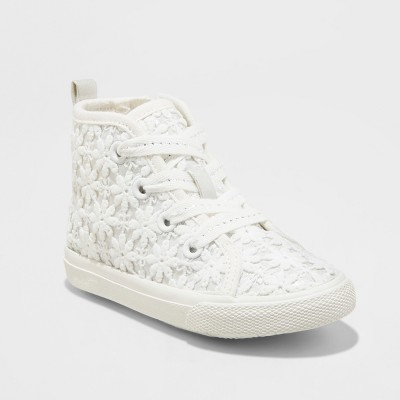 Toddler Girls' Jory High Top Sneakers - Cat & Jack™ White 6