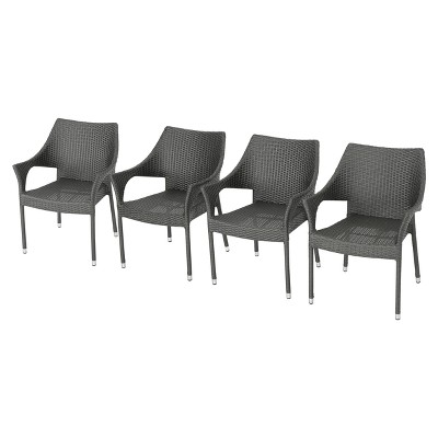 Mirage 4pk Wicker Stacking Chairs - Christopher Knight Home