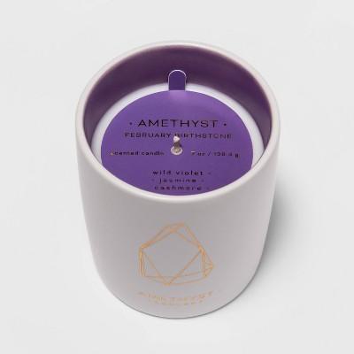 7oz Ceramic Jar Amethyst Candle (Febuary Birthstone)- Project 62™