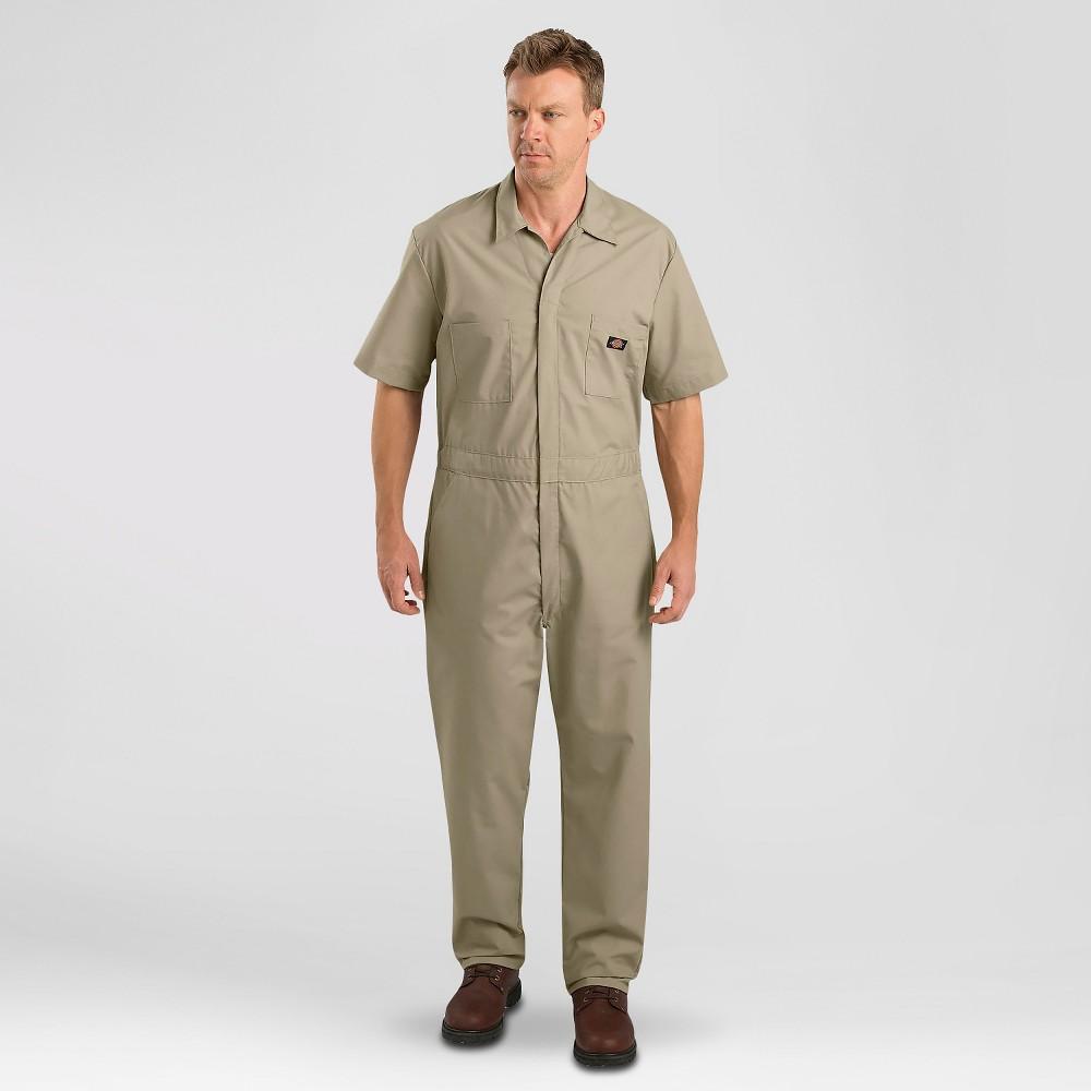 Dickies Men's Big & Tall Short Sleeve Coverall- Khaki (Green) Xxxl