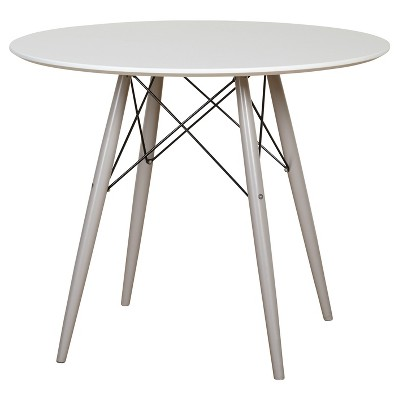 Elba Dining Table White/Gray - Buylateral