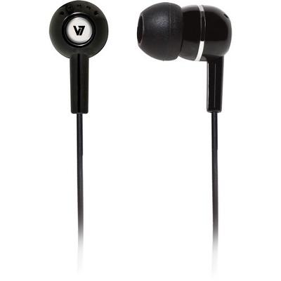 V7 HA100 Earphone - Stereo - Black - Mini-phone - Wired - 32 Ohm - 20 Hz 20 kHz - Earbud - Binaural - Open - 3.94 ft Cable