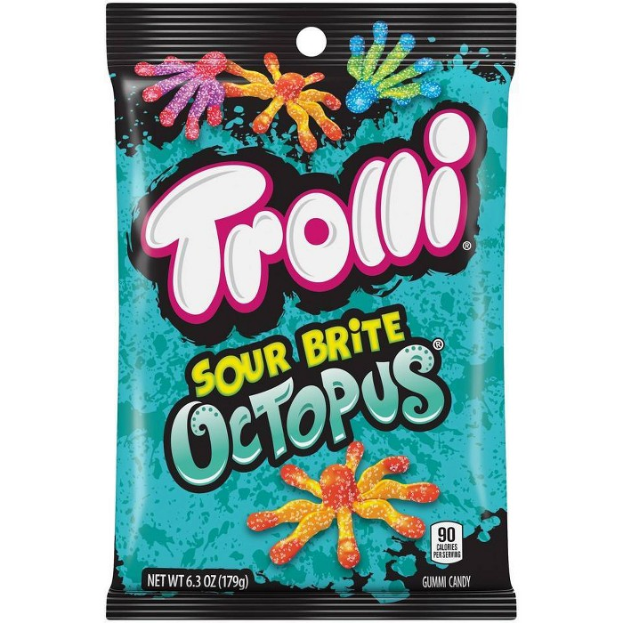 Trolli Sour Brite Octopus Gummi Candy - 6.3oz - image 1 of 3