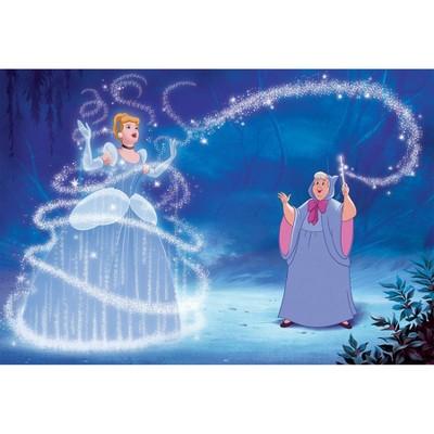 6'x10.5' XL Disney Princess Cinderella Magic Chair Rail Prepasted Mural Ultra Strippable - RoomMates