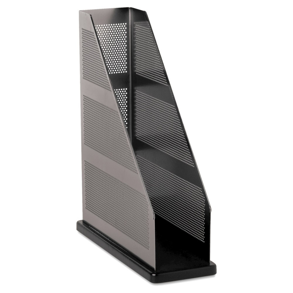 Image of Rolodex Distinctions Magazine File, 3 3/4 x 10 1/4 x 12, Metal/Black