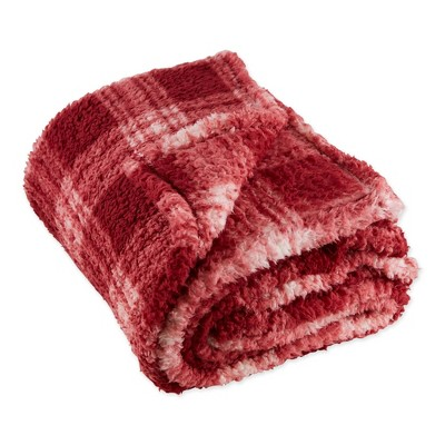 "50""x60"" Farmhouse Plaid Plush Throw Blanket - Design Imports"