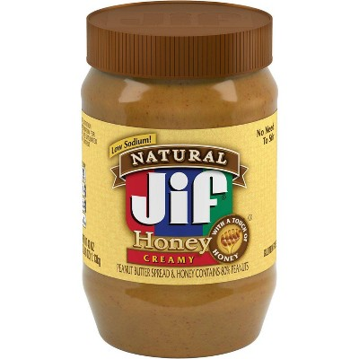 Jif Natural Creamy Honey Spread - 40oz