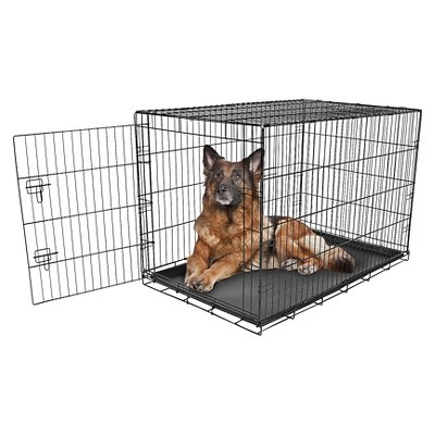 Carlson Compact and Secure Single Metal Door Dog Cage - XL - Black