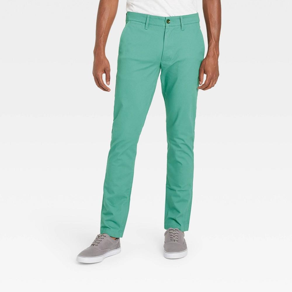 Men 39 S Skinny Chino Pants Goodfellow 38 Co 8482 Dusky Green 28x32