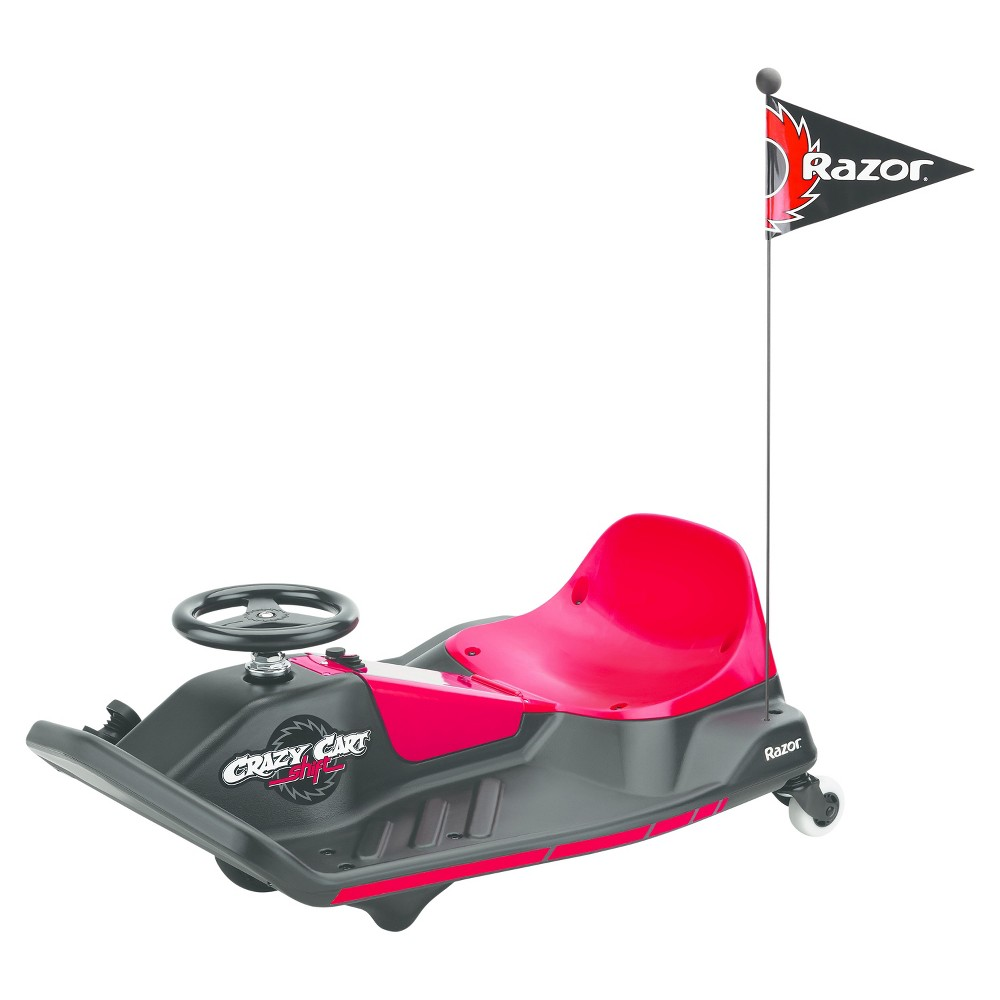 Razor Crazy Cart Shift Electric Ride On - Red/Black