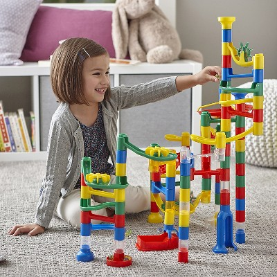 MindWare 103-Piece Marble Run with 20 Marbles- Engineering & Building Toys
