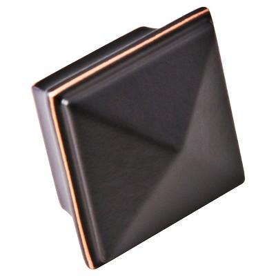 Sumner Street Home Hardware 1.25 4pc Knob Oil-Rubbed Bronze Pyramid