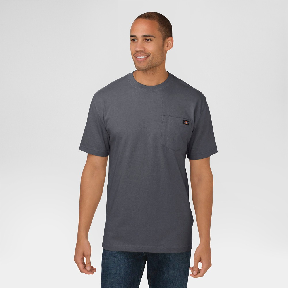 Dickies Men's Cotton Heavyweight Short Sleeve Pocket T-Shirt- Charcoal (Grey) XL