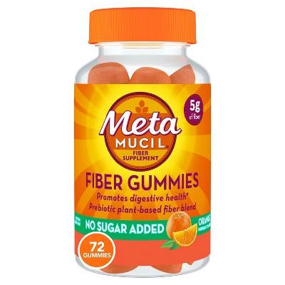 Metamucil Fiber Supplement Sugar-free Gummies - Orange - 72ct