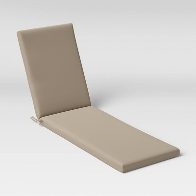 Woven Outdoor Chaise Cushion DuraSeason Fabric™ Tan - Threshold™
