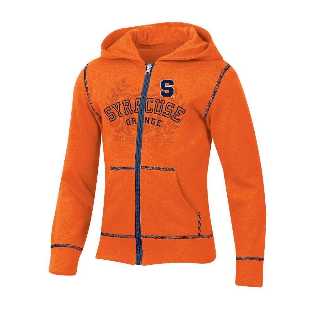 Syracuse Orange Girls' Long Sleeve Full Zip Hoodie - L, Multicolored