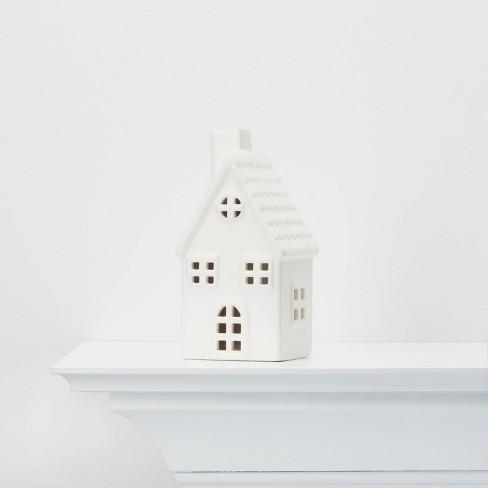 Medium Ceramic House Decorative Figure White - Wondershop™ - image 1 of 4