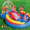 Intex 9.75ft x 6.33 ft x 53in Inflatable Rainbow Kids Pool w/ Electric Air Pump - image 3 of 4