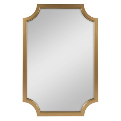 "24"" x 36"" Hogan Framed Scallop Wall Mirror Gold - Kate and Laurel"