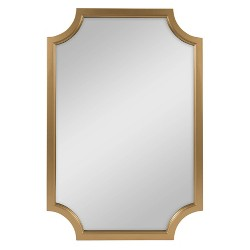 "24""x36"" Hogan Framed Scallop Wall Mirror Gold - Kate and Laurel"