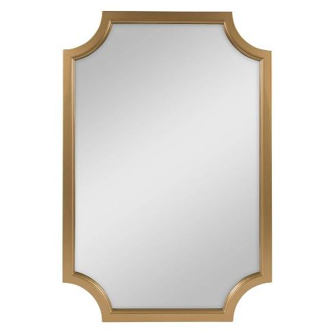 24 X 36 Hogan Framed Scallop Wall Mirror Gold Kate And Laurel Target