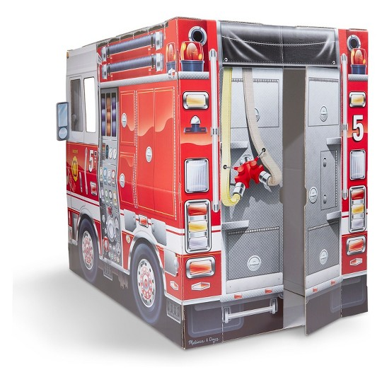 Melissa & Doug Fire Truck Indoor Playhouse image number null