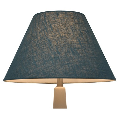 Linen empire lamp shade blue threshold target aloadofball Gallery
