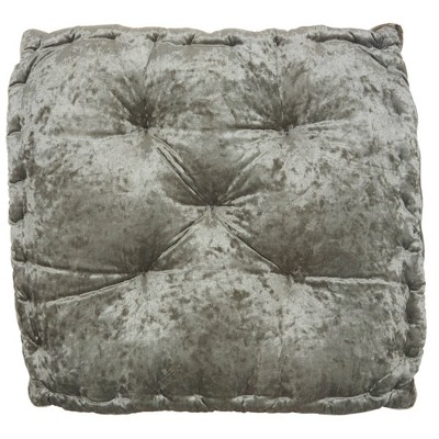 """24""""x24""""x4"""" Life Styles Booster Seat Cushion Floor Pillow Gray - Mina Victory"""