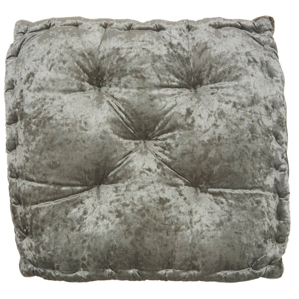 "Image of ""24""""x24""""x4"""" Life Styles Booster Seat Cushion Floor Pillow Gray - Mina Victory"""