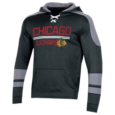 NHL Chicago Blackhawks Men's Edge Poly Textured Hoodie - M